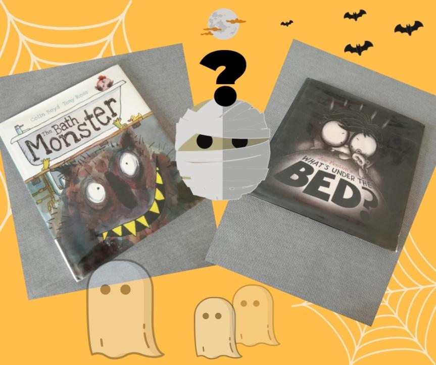 #Halloween / Dwie książki o domowychpotworach