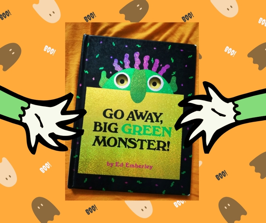 #Halloween. / Go away big green monster!